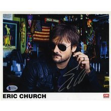 Eric Church Signed 8x10 Promo Photo Certified Authentic Beckett BAS COA
