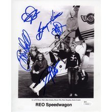 Reo Speedwagon Band Signed 8x10 Photo Certified Authentic JSA COA
