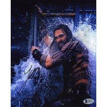 Aquaman Cast Momoa & Wan Signed 8x10 Photo Certified Authentic Beckett BAS COA