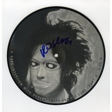 Robert Smith The Cure Signed 45 Picture Disc Certified Authentic JSA COA