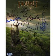 The Hobbit Cast by 12 Signed 8x10 Photo Certified Authentic Beckett BAS COA