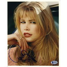 Claudia Schiffer German Model Signed 8x10 Photo Certified Authentic Beckett BAS COA