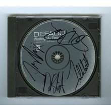 Default Band 'Wasting My Time' Single Signed by 4 CD Certified Authentic BAS COA