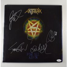 Anthrax  'For All Kings' Signed Record Album Cover LP Certified Authentic JSA COA