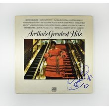 Aretha Franklin 'Greatest Hits' Signed Record Album LP Certified Authentic JSA COA AFTAL