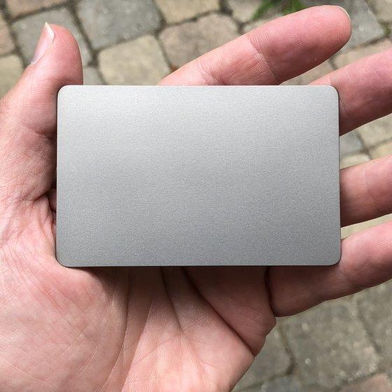 Blank Card Sample (silver, no engraving)