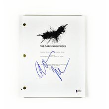 Christian Bale Dark Knight Signed Script Certified Authentic BAS COA