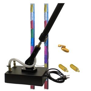 Electric Confetti Cannon with 2 shots of metallic confetti.