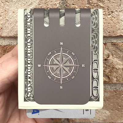 The VIPER™ money clip - COMPASS ROSE on NASA Optical Gray Finish