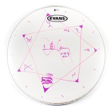 "Danny Carey ""Tool' Signed Drumhead Certified Authentic Beckett BAS COA"