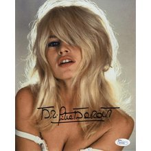 Brigitte Bardot Sultry Signed 8x10 Photo Certified Authentic JSA COA
