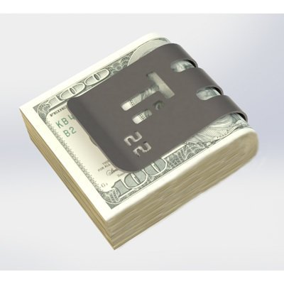 The T-100 Titanium Money Clip - Natural Titanium Finish