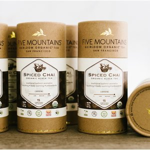 Organic Spiced Chai: 6 Tubes/15 Sachets Each *Best By: