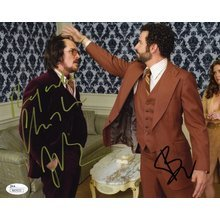 American Hustle Cast Cooper and Bale Signed 8x10 Photo Certified Authentic JSA COA