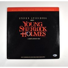 Steven Spielberg Young Sherlock Holmes Signed Soundtrack Album LP Certified Authentic BAS COA