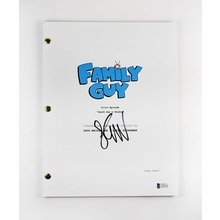 Seth MacFarlane Family Guy Signed Script Certified Authentic BAS COA