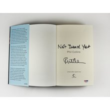 Phil Collins Not Dead Yet Signed Book Certified Authentic PSA/DNA COA