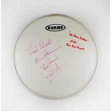 Bacon Brothers by 4 Signed Drumhead Certified Authentic JSA COA