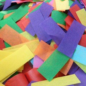 multi-colored tissue confetti