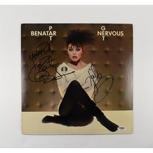 Pat Benatar and Neil Geraldo Signed Record Album LP Certified Authentic PSA/DNA COA