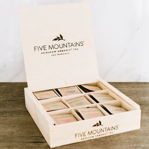 Handcrafted Presentation Box Bundle: 9 Slot (With Tea)