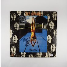 Joe Elliott Def Leppard High N Dry Signed Record Album LP Certified Authentic PSA/DNA COA