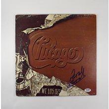 Peter Cetera Chicago X Signed Record Album LP Certified Authentic PSA/DNA COA