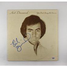 Neil Diamond 'You Don't Bring Me Flowers' Signed Record Album LP Certified Authentic PSA/DNA COA