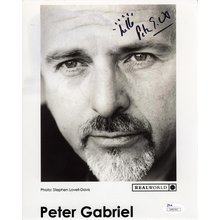 Peter Gabriel Signed 8x10 Photo Certified Authentic JSA COA AFTAL