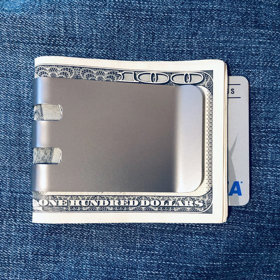 Upgraded COMMANDER™ 2.0 Money Clip - Massive 60 folded bill capacity - Natural Titanium Finish