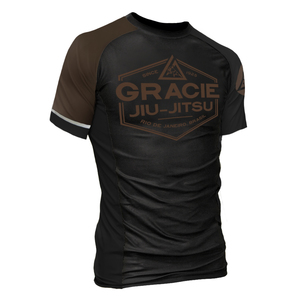 Brown Rank Short-Sleeve Rashguard (Men)