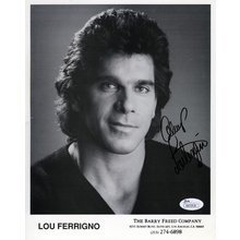Lou Ferrigno Promo Signed 8x10 Photo Certified Authentic JSA COA