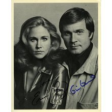 Buck Rogers Erin Gray and Gil Gerard Signed 8x10 Photo Certified Authentic JSA COA