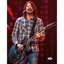 Dave Grohl Foo Fighters Nirvana Signed 11x14 Photo Certified Authentic PSA/DNA COA