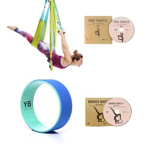 Blue Yoga Trapeze® and Blue Wonder Wheel Bundle
