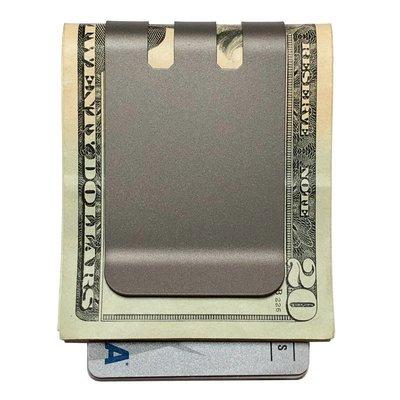 Upgraded COMMANDER™ 2.0 Money Clip - Massive 60 folded bill capacity - NASA Optical Gray Finish