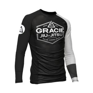 White Rank Long-Sleeve Rashguard (Men)