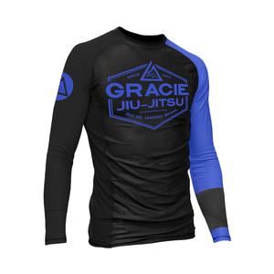 Blue Rank Long-Sleeve Rashguard (Men)