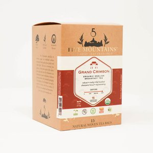 Organic Grand Crimson (English Breakfast): 15 Tea Sachets