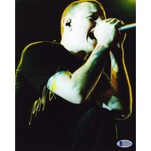 Chester Bennington Linkin Park Signed 8x10 Photo Certified Authentic Beckett BAS COA