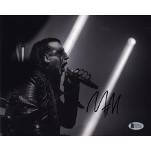 Marilyn Manson Signed 8x10 Photo Certified Authentic BAS COA