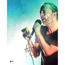 Thom Yorke Radiohead Signed 11x14 Photo Certified Authentic Beckett BAS COA