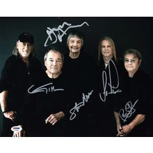Deep Purple Band Signed 11x14 Photo Certified Authentic PSA/DNA COA AFTAL