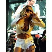 Mariah Carey Live Signed 11x14 Photo Certified Authentic Beckett COA