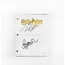 Harry Potter Cast Grint and Radcliffe Signed Script Certified Authentic JSA COA