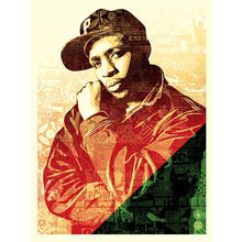 "Obey Giant ""Chuck D - Green/Red"" Signed Screen Print"