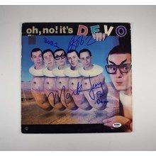 Devo Signed Record Album LP Certified Authentic PSA/DNA COA