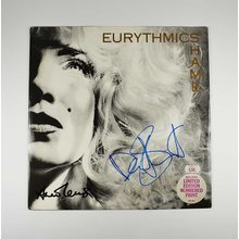 Eurythmics 'Shame' + Limited Print Signed Record Album LP Certified Authentic Beckett BAS COA