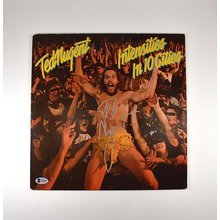 Ted Nugent Intensities in 10 Cities Signed Record Album LP Certified Authentic Beckett BAS COA