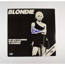 Debbie Harry Blondie Signed Record Album LP Certified Authentic BAS COA